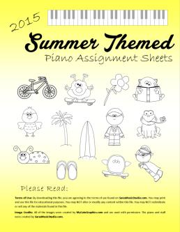 SummerAssignmentSheetsFrontpage
